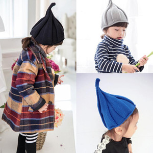 1PC Fashion Hat Warm Winter Funny Baby Kids Windmill Caps Knitted Pointy Beanie Twisted Crochet Pointed Hats For Boys Girls