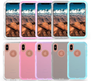 Robot Cases Clear Defender NO Clip For iPhone 11 Pro Max XR XS 6 7 8 Plus Samsung S9 S10 Plus Note 10 Plus
