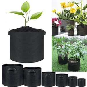 Non Woven Grow Bag Plants Fabric Pots Plant Pouch Root Container Aeration Flower Pot Garden Bag Planters GH108