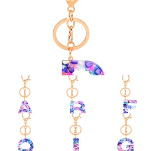 24VA 고품질 FashionableKey Keynew Keychain 26 유럽과 미국 인기 편지 Keychain English Handmade Keychain