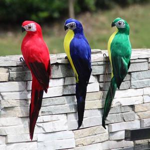 25 35cm Handmade Simulation Parrot Creative Feather Lawn Figurine Ornament Animal Bird Garden Bird Prop Decoration