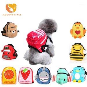 Cartone animato carino cane zaino animale domestico cane all'aperto viaggio portandolo borsa da viaggio zaino sacchetto di scuola per cani di piccole dimensioni gatti senza guinzaglio1