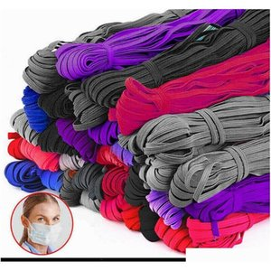 braiding cords elastic bands rope diy sewing crafts making 6mm width 30 cm length mask hanging ear line t@