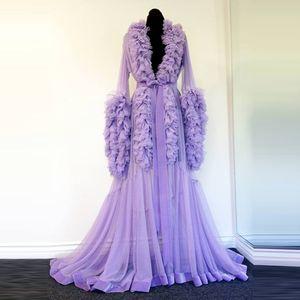 Night Robe Purple Maternity Dress for Photoshoot or Babyshower Photo Shoot Lady Sleepwear Bathrobe Sheer Nightgown Bridesmaid Shawel
