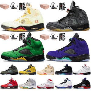 nike air retro jordan 5 off white 5 5s 2020 Jumpman 5 Hommes Chaussures de basket Mousseline Oregon Ducks Air Autre Grape Chaussures de sport