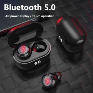 Dropshipping TWS in-ear Earphones Bluetooth 5.0 HiFi Stereo Earphones with Digital Charge Box A6 Mini Wireless Earphone Earbuds