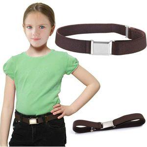 Children's belt soft elastic adjustable loose belt boys girls pants shorts belts solid color Kids gift fashion will and sandy new