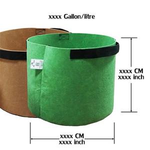 Serie Premium Plant Grow Bags Gallon Round Tessuto Pentole Pentole Pentole Pouch Pouch Container Flower Pots Garden Gardels Capacità di peso 191 K2