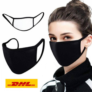 Free DHL US Organic Labs Face PM2.5 Masks with Breathing 100% Cotton Washable Reusable Cloth Masks Protection from Dust Pollen Pet Dander