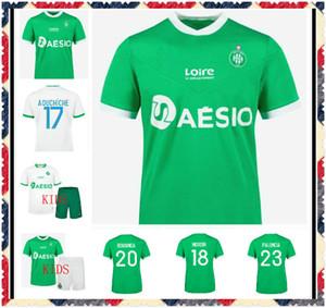 2020 2021 Maillot de pie como Saints-Étienne Soccer Jersey Man Kit Kits 20 21 ST Etienne Khazri Boudoboz Aholu ASSE Camisa de Fútbol