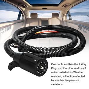 Luz durável Plugue elétrico com fios de 7 vias Cabo de reboque profissional Caravan RV Conector de reboque flexível Moldado1