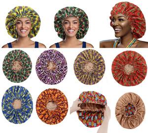 Euramerican Hair Care Bonnet Fashion Printing Dome Nightcap Elastic Frontal Head Wrap Edge Headband Bags Chemotherapy Hats Women Gifts DB119