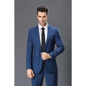 Blue men suit set Slim 2020 Fashion Groomsmen Suits For Wedding Business Man Daily Work Wear Mens Suits Blazer With Pants