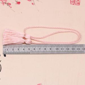 5 unids 54cm Cinta de la cuerda Dos Cabeza Borlas Largas DIY Craft Ropa Accesorios Decoración Fringe Trim Casera Textil Cortina Tassels Colgante H Bbytyh