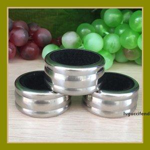 Nueva botella de vino de llegada collar anillo de goteo Negro Rojo Acero Color franela alcohol redondas de acero prácticas herramientas de la barra 0 39fh E1