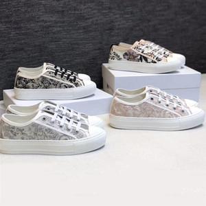 Donne Canvas Falt Sneaker Multicolor Obliquo Obliquo Ricamo Stampa Lace-Up Sneakers Piatti Flat Runnings Trainer Women Walk'n Scarpe da esterno