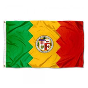 Cidade da bandeira do partido Festival 90x150cm Los Angeles Bandeira de alta qualidade 3x5 FT presente 100D Poliéster Indoor Bandeiras e banners impressos Outdoor