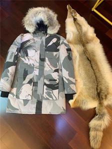 Top 2020 nuevos hombres Casual chaqueta abajo abajo cubre para hombre alce caliente al aire libre capa del hombre del invierno Outwear chaquetas Parkas Canadá nudillos Doudoune