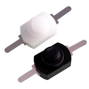 Vendita calda 1pc / 5pcs / 10pcs1a 30V CC 250V Bianco / Nero attaccarsi fuori dal mini torcia Push Button Switch Sy0391