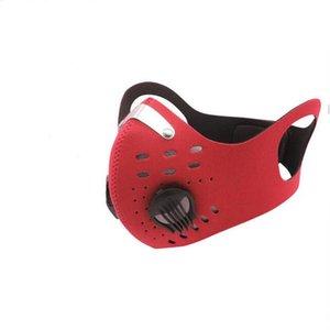 Маски для лица Активированный углеродный дыхательный клапан маски многоразовая езда маска с фильтром пылезащитный ветрозащитный противотуманный порт рот HWB2264