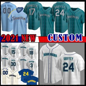 22 Robinson Cano 24 Ken Griffey Jr. 51 Ichiro Suzuki Jersey Baseball Jersey Seattle Base Cool Majestic Jerseys