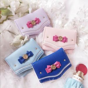 Sıcak Satış Kadınlar Küçük Çantalar Sevimli Çiçek Para Değişim Çanta Deri Hasp Debriyaj Bow Kısa Akıllı Mini Slim Kart Cüzdan