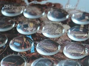 20PCS / 25mm 시트 (1) CLEAR ADHESIVE EPOXY 서클 BOTTLE CAP 스티커