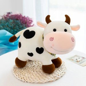 25 35 43cm Cute Soft Stuffed Animals Cow Toys Plush Doll Small Milk Cattle Baby Sleeping for Children Birthday Christmas Gift 20190823