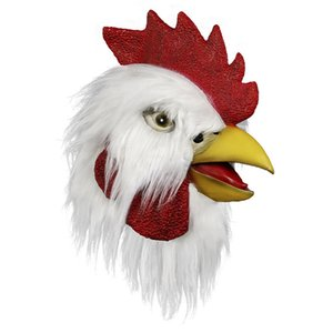 Masque de poulet Compuda Halloween Costume Novelty Fête Latex Animal Head masque Coq115