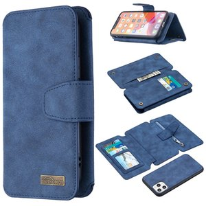 NEW Detachable Frosted Magnetic Horizontal Flip Leather Case with Card Slots & Holder & Zipper Wallet & Photo Frame For iPhone 11 Pro