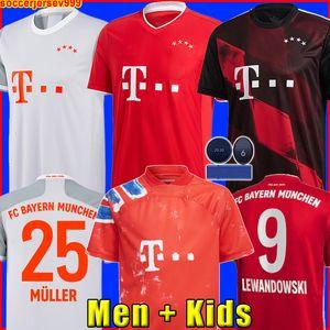 Camiseta de fútbol Bayern Munich LEWANDOWSKI SANE chandal Camiseta de fútbol COMAN MULLER GNABRY DAVIES Hombre + Uniformes de kit para niños MUNCHEN de la carrera humana cuarto cua