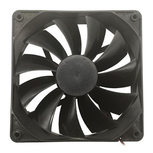TOP F13525 Computer Cooling Fan 135mm Large Air Flow Great PC Exhaust Fan Cooler 12V 2-Pin Connector Cooling System