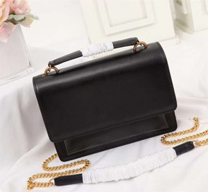 New style women shoulder bag luxurys designers bags real leather bag letter handbag gold Chian crossbody bag women bags