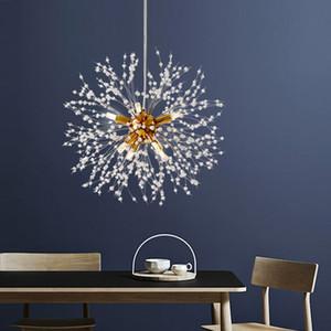 Modern Crystal Chandelier Lighting Dandelion Chandeliers Lamp LED Pendant Hanging Light Lustres De Cristal Lamp Restaurant Light