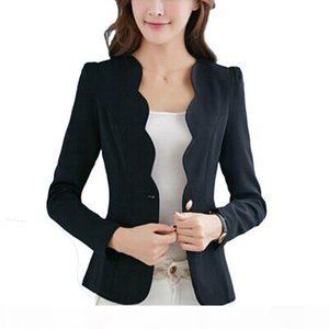 Women 2016 Autumn Fashion Blazers 4 Colors Slim Fit Blazer Jackets Long Sleeves Business Blazer 2017 New Q190529