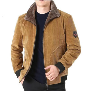 Winter Jacket Men Thick Warm Corduroy Cotton Parkas Men Casual Loose Turn Down Collar Multi Pockets parkas hombre invierno coat