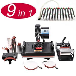 New 9 In 1 Pen Heat Press Machine Sublimation Printer Heat Transfer Machine Press For Mugs Caps T shirts Cases Bottles Pens1