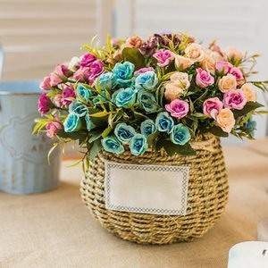 Hot Artificial Star Rose Flower Branch for Birthday Wedding Party Decoration Household Festival Supplies Simulation Decorate