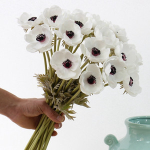 Real Touch Artificial Anemone Silk Flores Artificiales For Wedding Holding Fake Flowers Home Garden Decorative Wreath DHBG2332