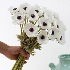 Real Touch Artificial Anemone Silk Flores Artificiales für Hochzeit Halten Fake Flowers Home Garten Dekorative Kranz DHBG2332