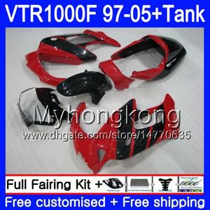 Body +Tank For HONDA SuperHawk VTR1000F 97 98 99 00 01 Red black hot 05 56HM.42 VTR1000 F VTR 1000 F 1000F 1997 1998 1999 2000 2001 Fairings