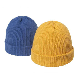 Beanie Skull Caps Oloey Winter Solid Knitted Basic Hats Women Fashion Curled Tentacles Hat Female Streetwear Thickness Warm Woolen 2021