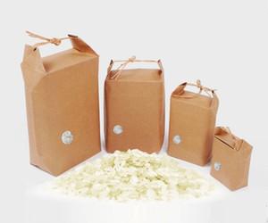 Rice paper bag Tea packaging cardboard paper bag weddings kraft paper bags Food Storage Standing Packing Bags