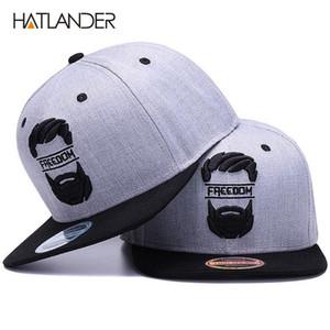 HATLANDER الأصل snapback القبعات الرجال سقف شقة حافة قبعات البيسبول العظام والتطريز شارب رجل قبعة شباب الشوارع وير بارد كاب الهيب هوب