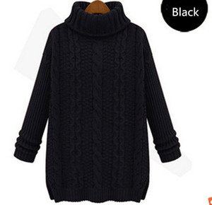 New 2021 Fashion Warm Winter Pullover Women Sweater Women Vintage Knitwear Long sleeve O-neck Wool Oversized Knitted Sweaters
