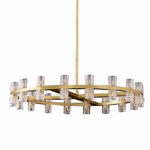 American Villa RH G4 светодиодная люстра Luster K9 Crystal Crystal Chastelier Lighting роскошная гостиная золота круглые металлические светодиодные светильники света