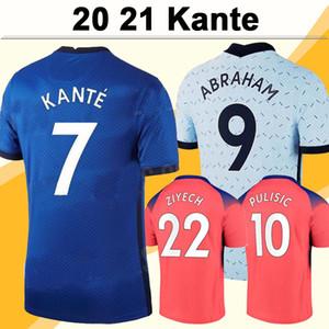 20 21 Camisas de futebol masculino KANTE GIROUD PULISIC KOVACIC ZIYECH 3ª casa para casa camisa de futebol Novo LAMPARD JORGINHO Fardas de manga curta para adultos