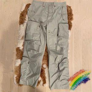 2Colors Pants Men Women Joggers Multi Pocket Drawstring Sweatpants Trousers