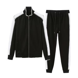 Uomo Sportswear Felpa con cappuccio e felpe Black Bianco Autunno Inverno Inverno Jogger Sporting Suit da uomo Abiti di sudore Tracksuits Set Plus Size M-3XL W20