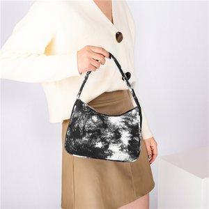 Die neuen beliebten weichen leinwand frauen abstrakt assarm tasche retro damen baguette handtaschen mode design mädchen kleine umhängetaschen